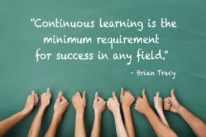 Brian Tracy quote about learning